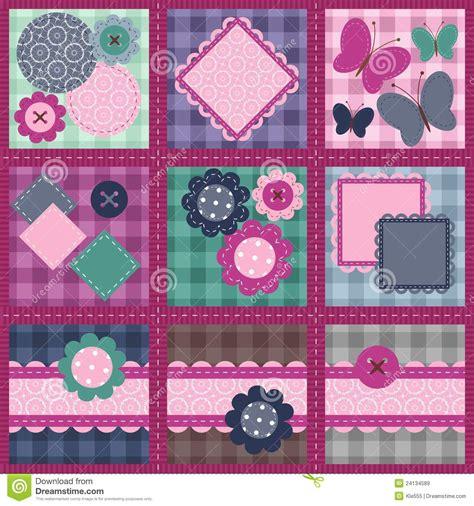 Define Patchwork - patchwork set seamless stock illustration image of object