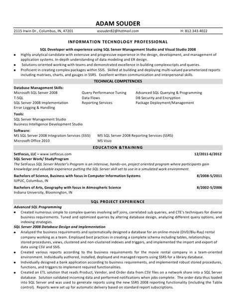 sle resume for 2 years experienced software engineer 10000 cv and resume sles with