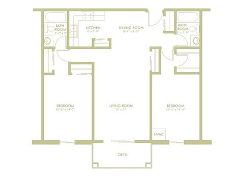 the aloha 2 2 split bedroom floor plan 2 bedroom 2 bathroom split
