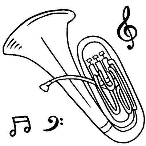 tuba coloring page coloring book
