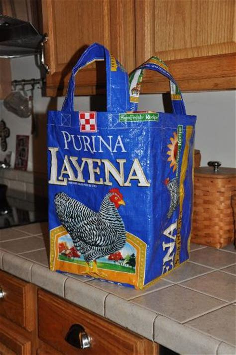 nifty tote bag made from a feed bag