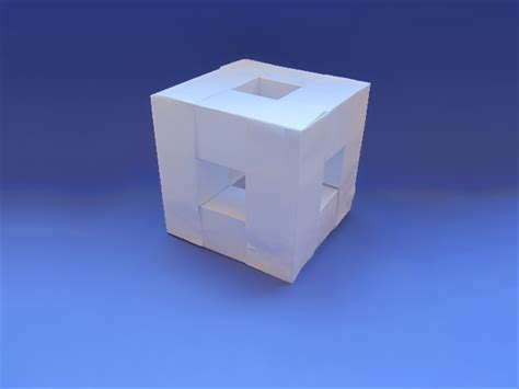 Make A Cube With Paper - how to make a paper cube frame