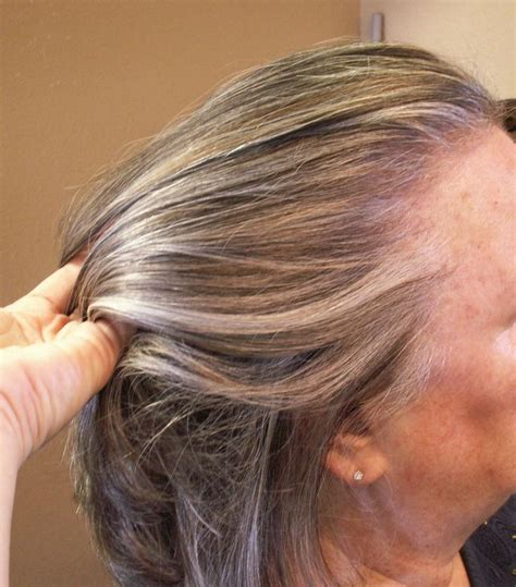 lowlights for gray hair lowlights and highlights added to grey hair hair by janet