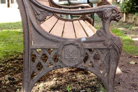 cast iron benches for sale cast iron bench with lion head arms for sale at 1stdibs