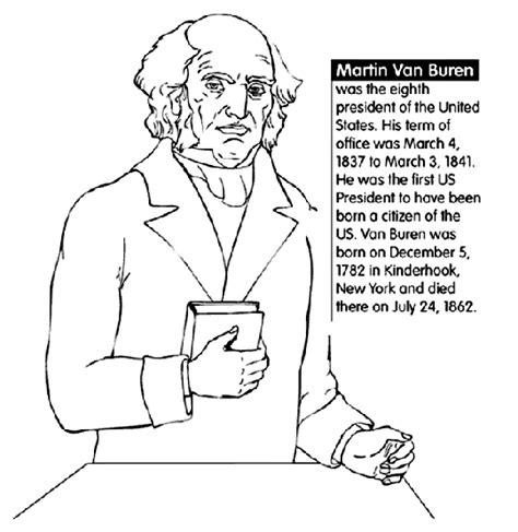 U S President Martin Van Buren Coloring Page Crayola Com Us Presidents Coloring Pages