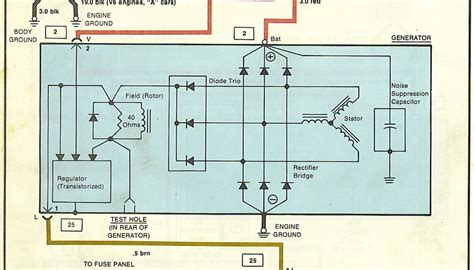 awesome alternator warning light wiring diagram