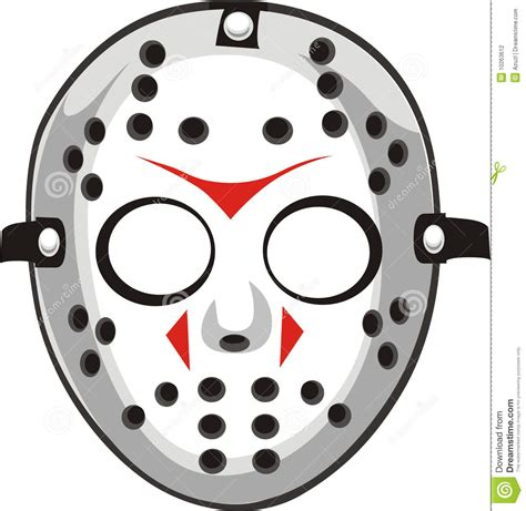 jason mask template jason mask clipart