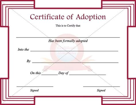 adoption certificate template 1000 ideas about vorlage urkunde on graphics