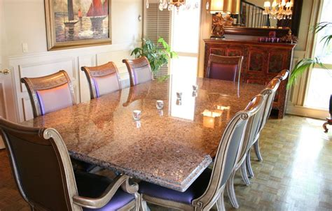 granite dining table 8 chairs labrador antique granite dining table ogee edge