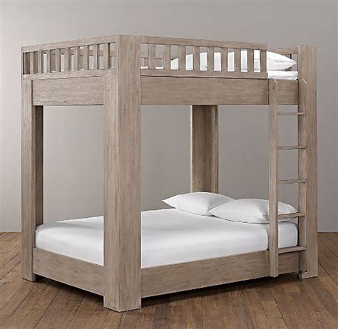 platform loft bed callum platform full over full bunk bed bunk bed restoration hardware baby and platform