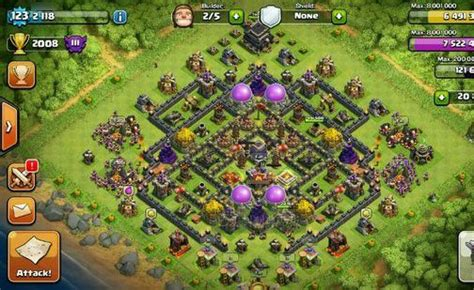 coc layout simulator th9 most effective defense order in clash of clans clash