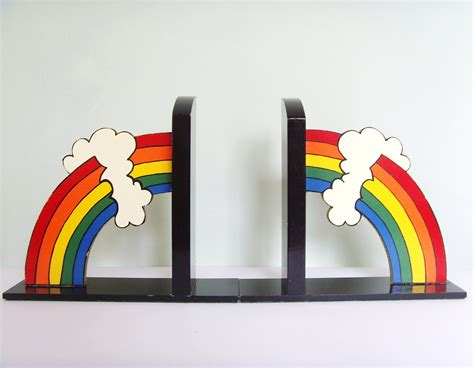 ends books rainbow bookends