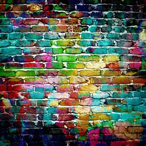 colored walls colorful brick wall street art pinterest drawings