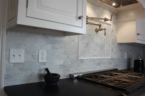 Carrara Marble Kitchen Backsplash Bianco Carrara Marble Backsplash Carrara Marble Carrara And Floor Design