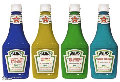 different colored ketchup ketchup worth1000 contests