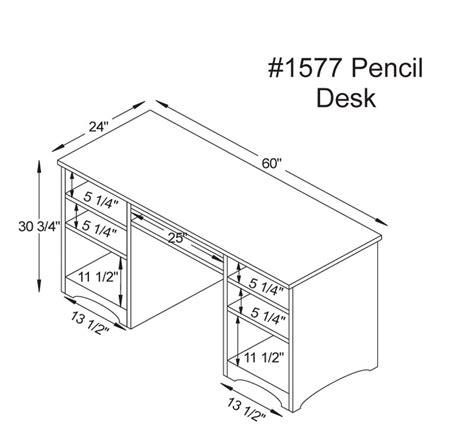 desk sizes woodbury pencil desk ohio hardwood furniture