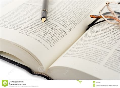 on the book stock photos open book and pen stock image image of library closeup 445541