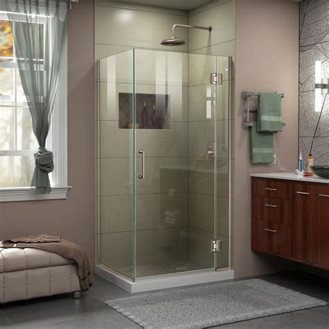 30 shower door shop dreamline unidoor x 30 3750 in to 30 3750 in