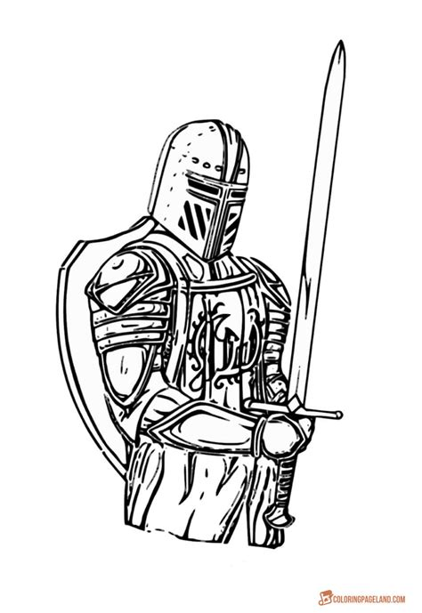 Knights Coloring Pictures - Download and Print out for Free