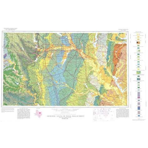 texas geologic map ga0013 dallas sheet publications store