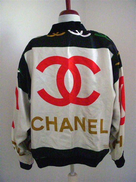 Chanel 921 Sz 28x10x17cm vintage 80 s cc bomber jacket chanel
