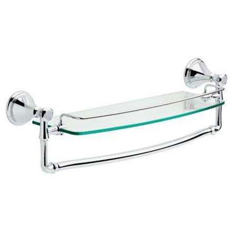 Glass Bathroom Shelf With Towel Bar by Bathroom Shelves Bathroom Cabinets Storage The Home