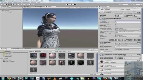 unity tutorial character customization unity 3d 5 breast size material change character