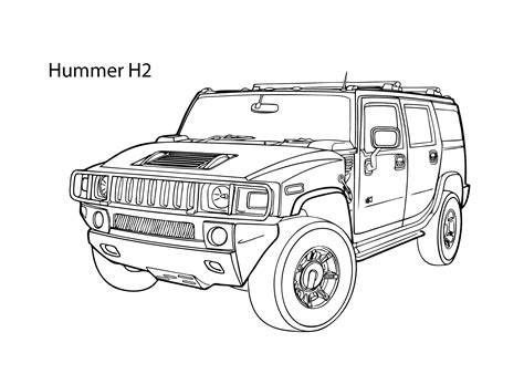army hummer coloring pages super car hummer h2 coloring page cool car printable free