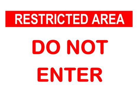 Do Not Enter Sign Caign Sign Template Word
