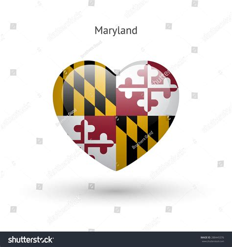 Search State Md Maryland State Symbol Flag Icon Vector Illustration 288445376
