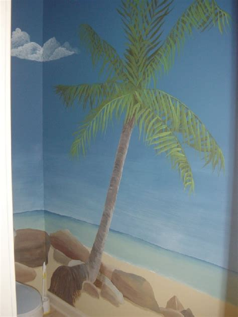 Painting Ideas For Kids Bedrooms beach mural for bathroom my work pinterest