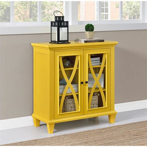 Yellow Storage Cabinet Altra Furniture Ellington Yellow Storage Cabinet 5042496com The Home Depot