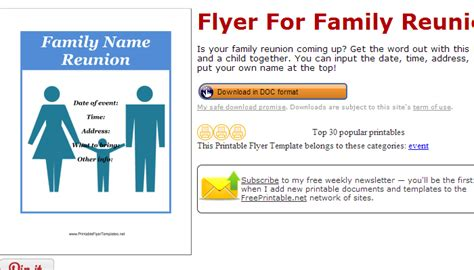 family flyer template june 2014 af templates
