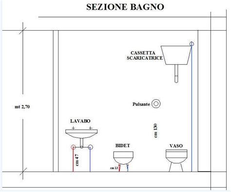 dimensionamento bagni impianto idrico nel bagno wc acqua calda e fredda dei