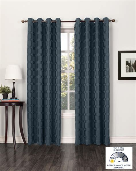 sun curtains com sun zero benson blackout curtain panel 52 by