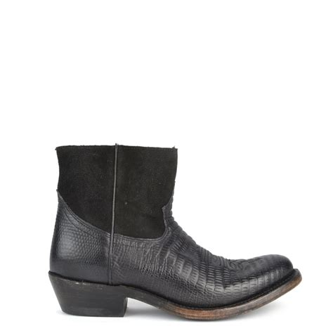 ash kut black western ankle boot