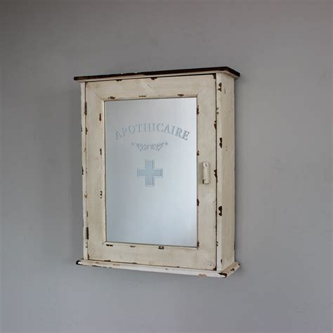 shabby chic bathroom cabinet with mirror cream wood bathroom wall apothicaire cabinet shabby french