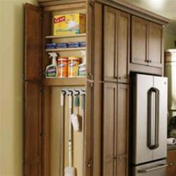 broom cabinet kitchen redo