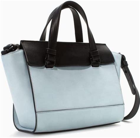 Zara Blue Mini Bag zara mini city bag in blue multicolour lyst