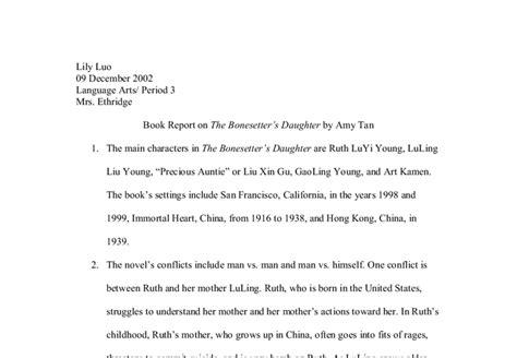 Bonesetters Essay by Book Report On The Bonesetter S By Gcse Marked By Teachers