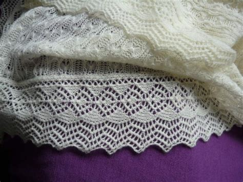 machine knit lace tuck stitch shawl with diana sullivan s enchanted edging