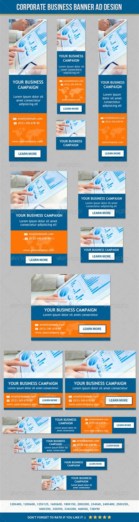 design online banner ads corporate business banner ad design by themeboo graphicriver