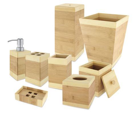 bamboo bathroom accessories set bamboo bathroom accessories 8 piece set kovot