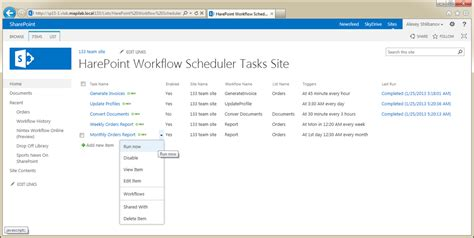 sharepoint scheduled workflow harepoint workflow scheduler for sharepoint screenshots