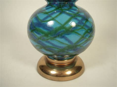 blue gourd table l pair of 1960s blue and green gourd pottery