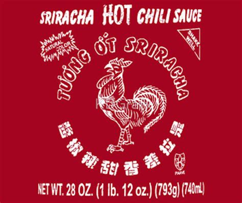 sriracha bottle vector here s the the rooster on your sriracha