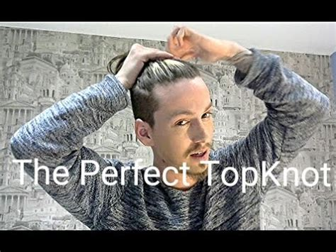top knot men how long to grow mens hair the perfect topknot guide tutorial youtube