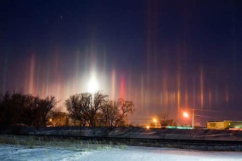 light pillars the stunning natural phenomenon of light pillars