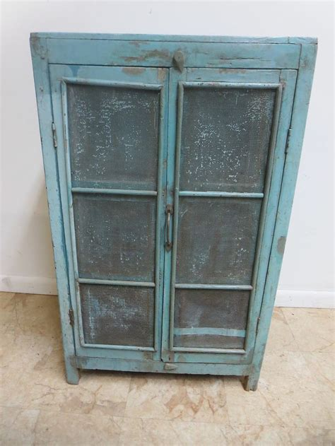 Antique Primitive Indian Reclaimed Wood pie safe cupboard cabinet she