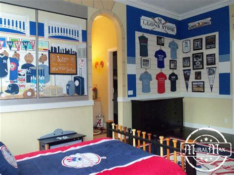 sports fan room new york ynakees sports murals 166 sports theme room decor 166 sports fan room designs